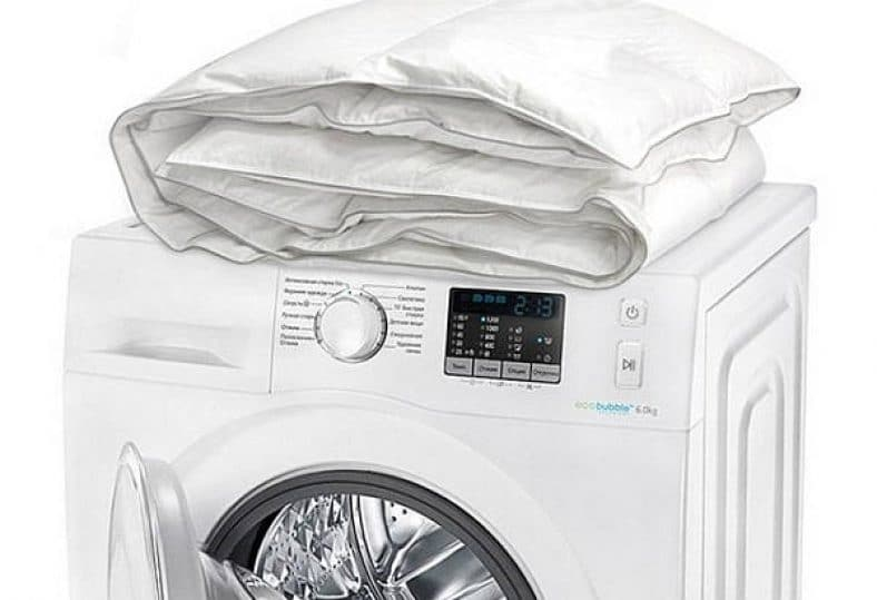 стирка пуховых одеял в машинке